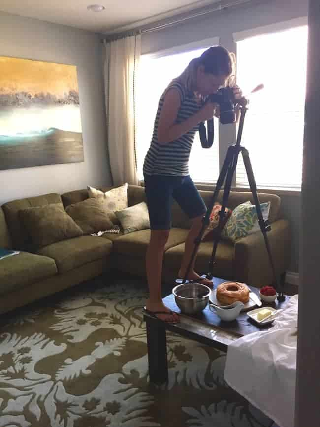 """Candid """"Behind the scenes"""" my husband captured on his phone"""