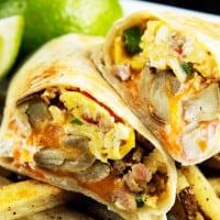 California Breakfast Burrito with Creamy Salsa (4)