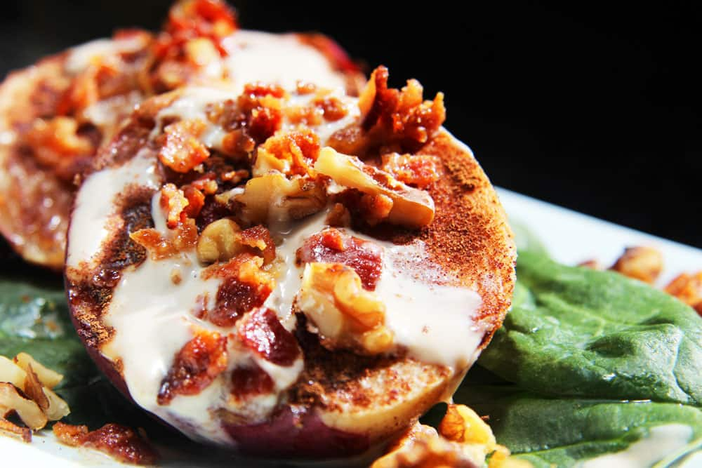 Cinnamon-Broiled-Peaches-with-Bacon-Walnuts-and-Honey-Balsamic-Yogurt-(6)