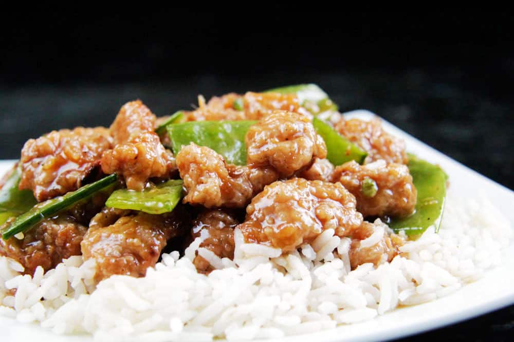 Skinny General Tso's Chicken