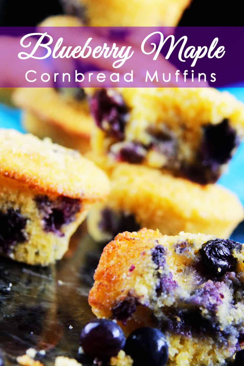 Blueberry Maple Cornbread Muffins | Carlsbad Cravings