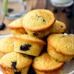 Cornbread Muffins with Blueberries