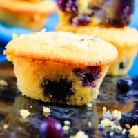 Blueberry Maple Cornbread Muffins (6)