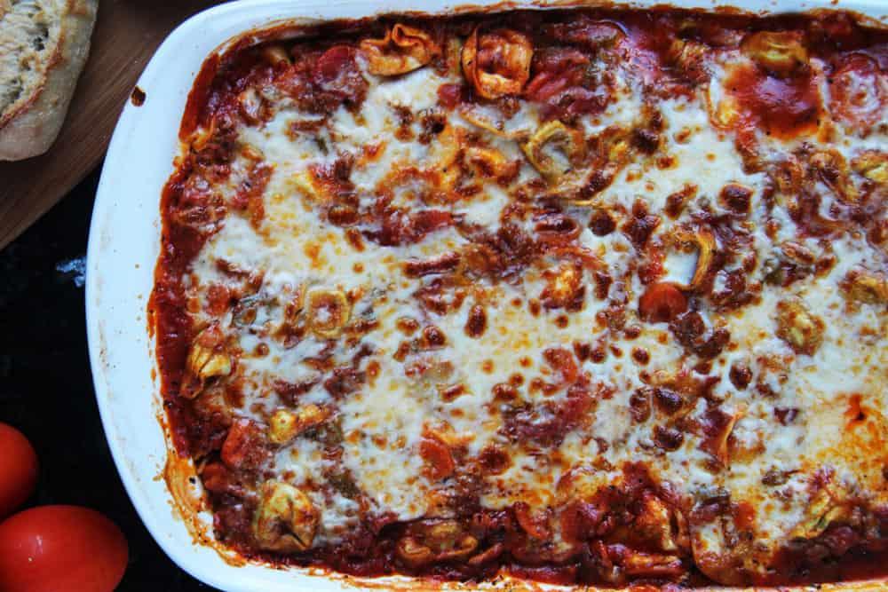 Cheesy Tortellini Ragu Veggie Al Forno (3)