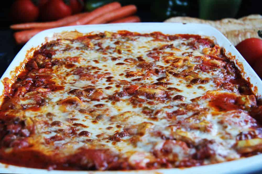 Cheesy Tortellini Ragu Veggie Al Forno (4)