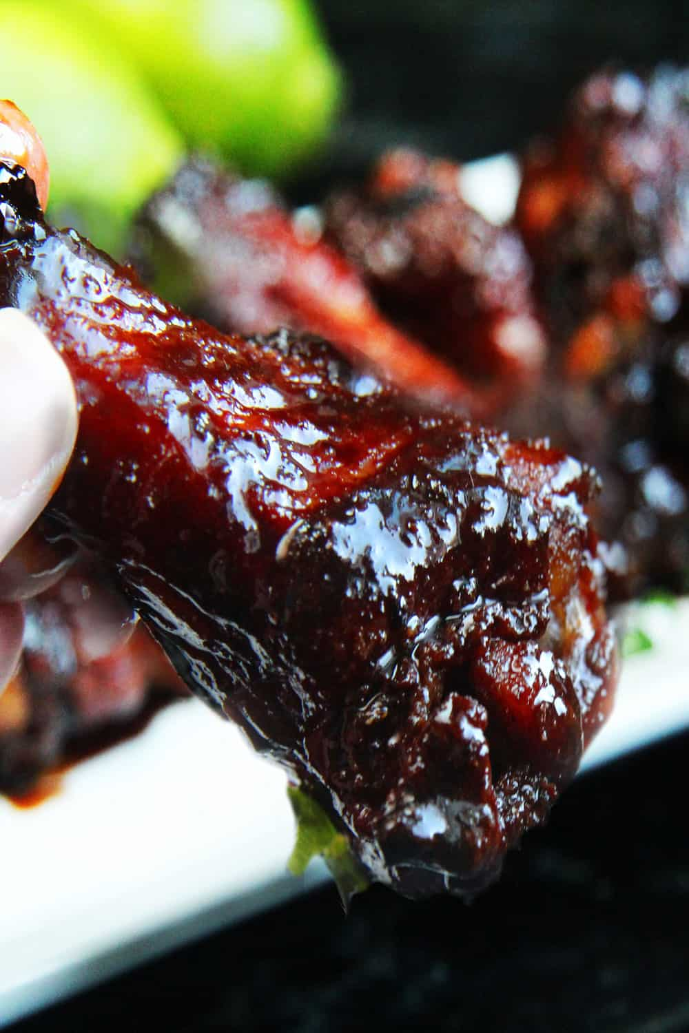 Chinese 5 Spice Chicken Wings With Sticky Soy, Balsamic Reduction ...