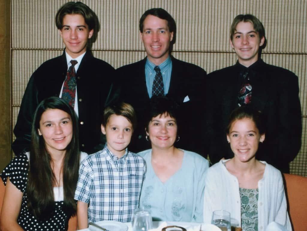 Top Row:  Spencer, Dad, Justin; Bottom Row: Kimberly, Bryan, Mom, Me
