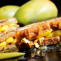 Grilled Chili Mango, Peanut Butter & Honey Sandwiches (5 Minutes!)