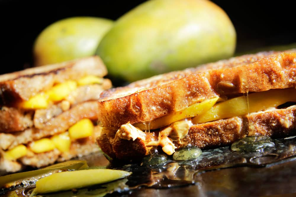 Grilled Chili Mango, Peanut Butter & Honey Sandwiches (5 Minutes ...