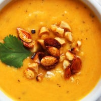 Thai Butternut Squash, Sweet Potato, Carrot Soup