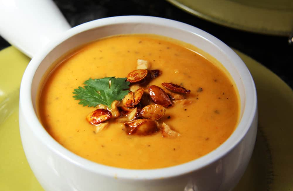 Thai Butternut Squash, Sweet Potato Carrot Soup with Roasted Honey ...