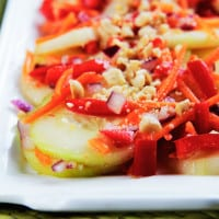 Asian Cucumber Salad with Red Chili Soy Vinaigrette