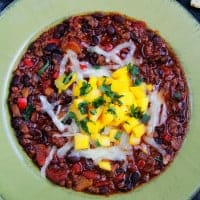 Mango Black Bean Chipotle Coke Chili