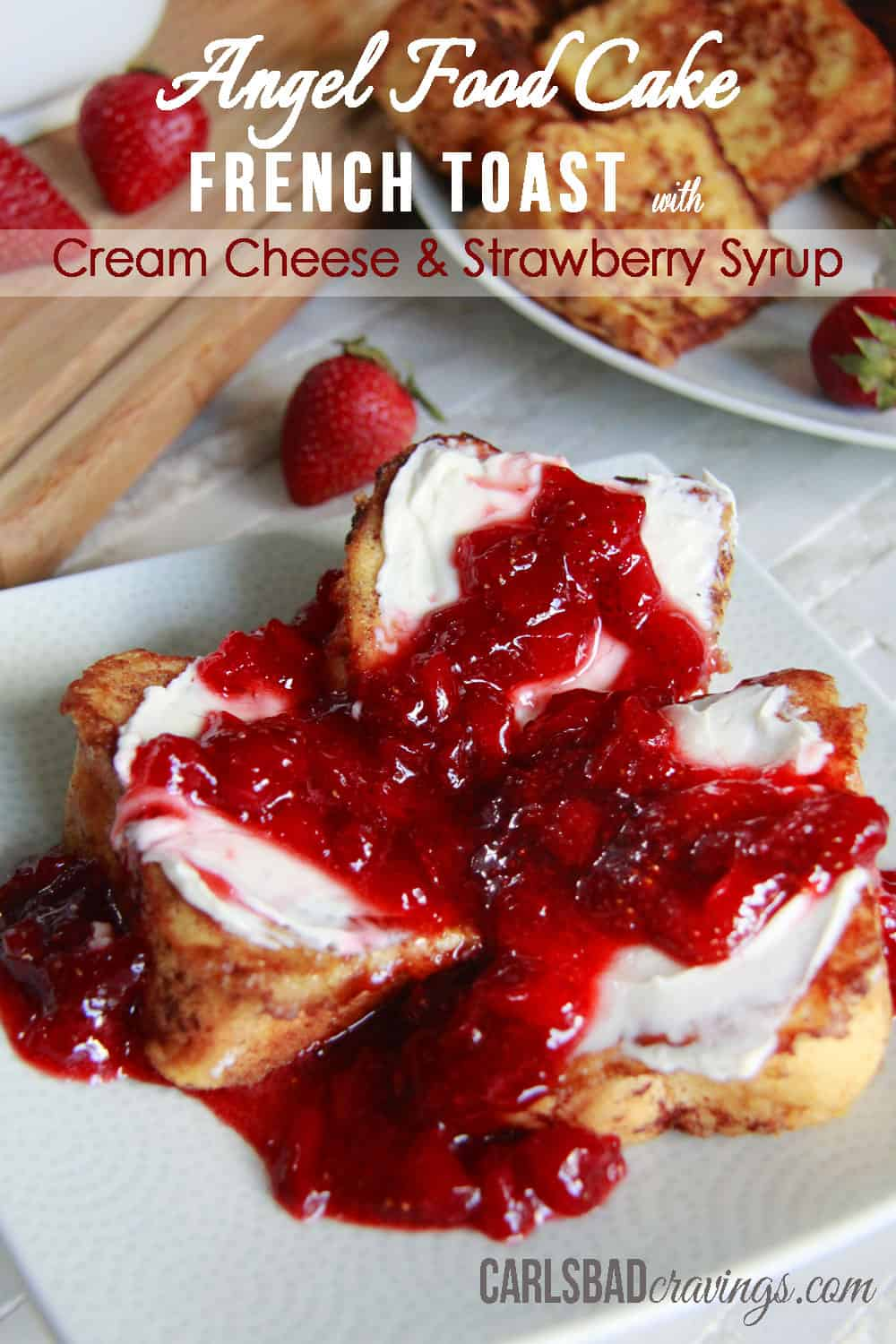The best ever fresh strawberry syrup or sauce with video angel food cake french toast main2 forumfinder Gallery