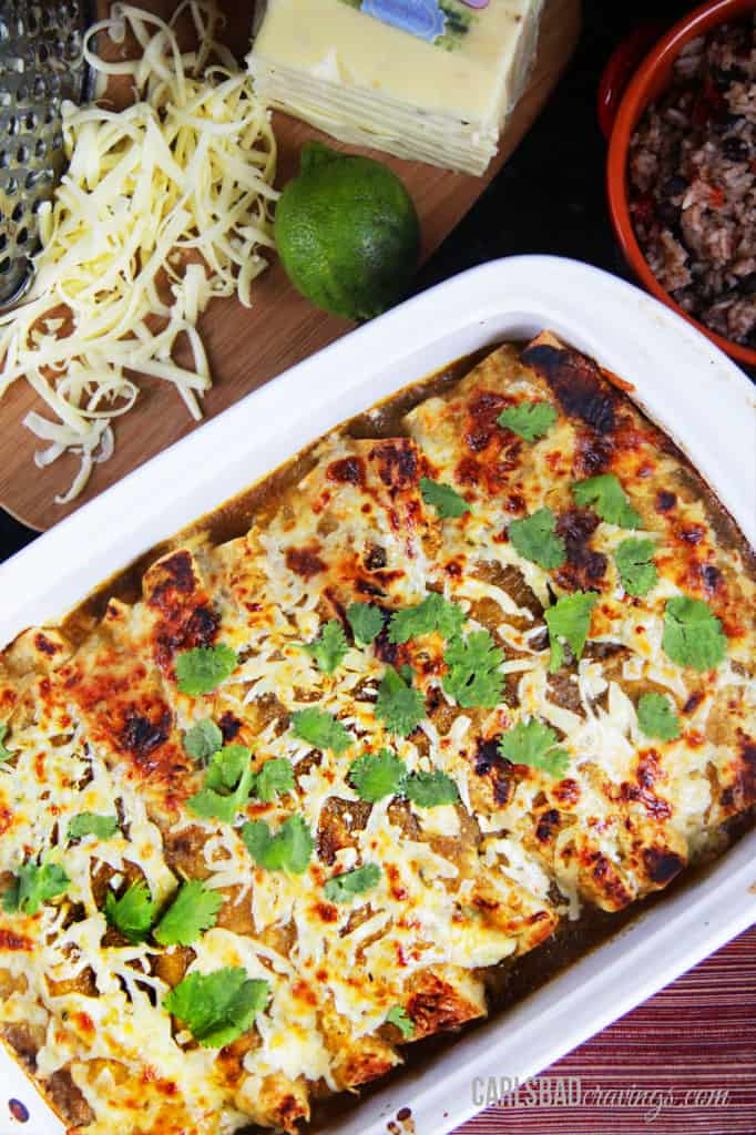 Salsa-Verde-Honey-Lime-Pepper-Jack-Chicken-Enchiladas-15