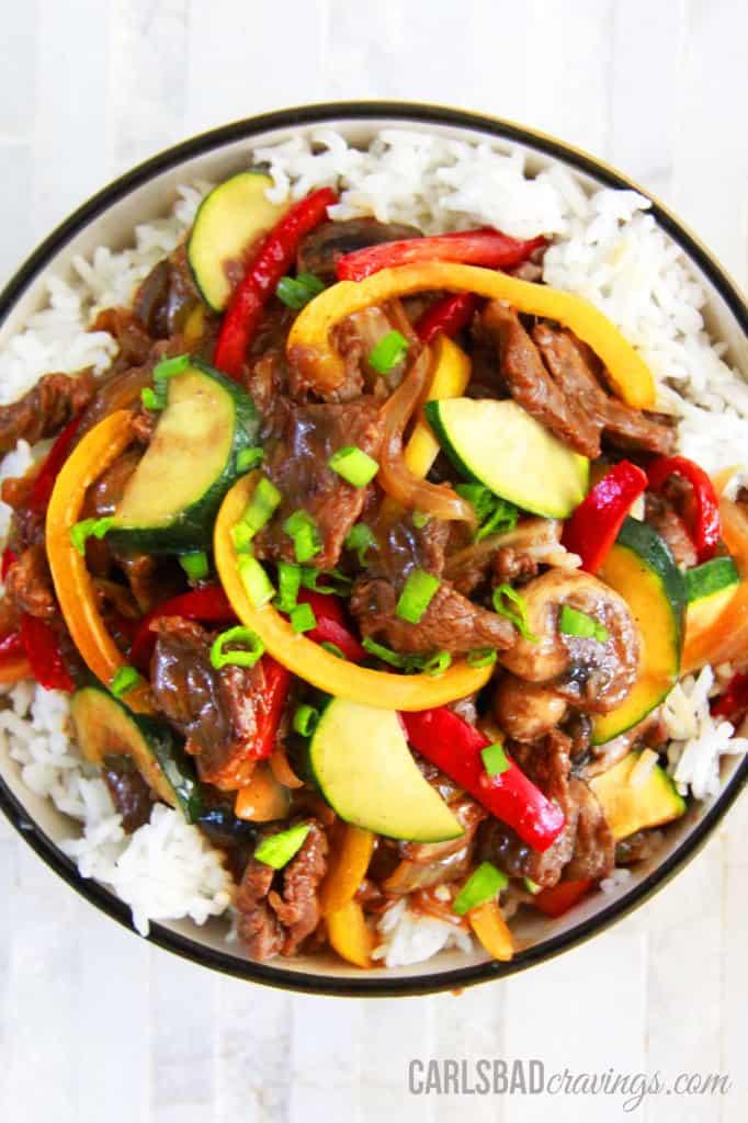 30 Minute Saucy Korean Beef Stir Fry   Carlsbad Cravings