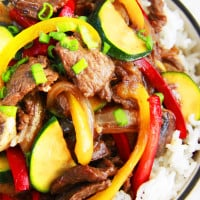 30 Minute Saucy Korean Beef Stir Fry