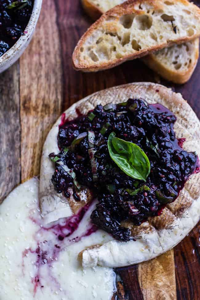 Grilled-Brie-with-Blackberry-Basil-Smash-Salsa-+-Charred-Bread.-8