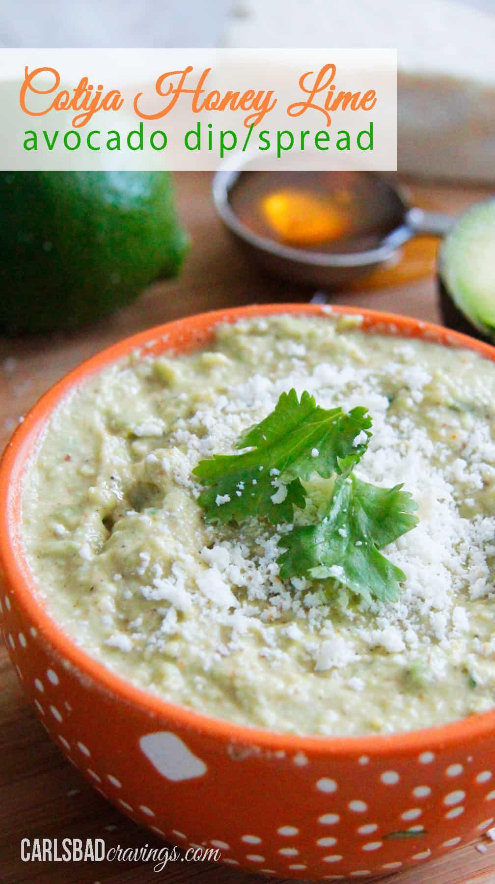 healthy Avocado Dip or spread in a bowl