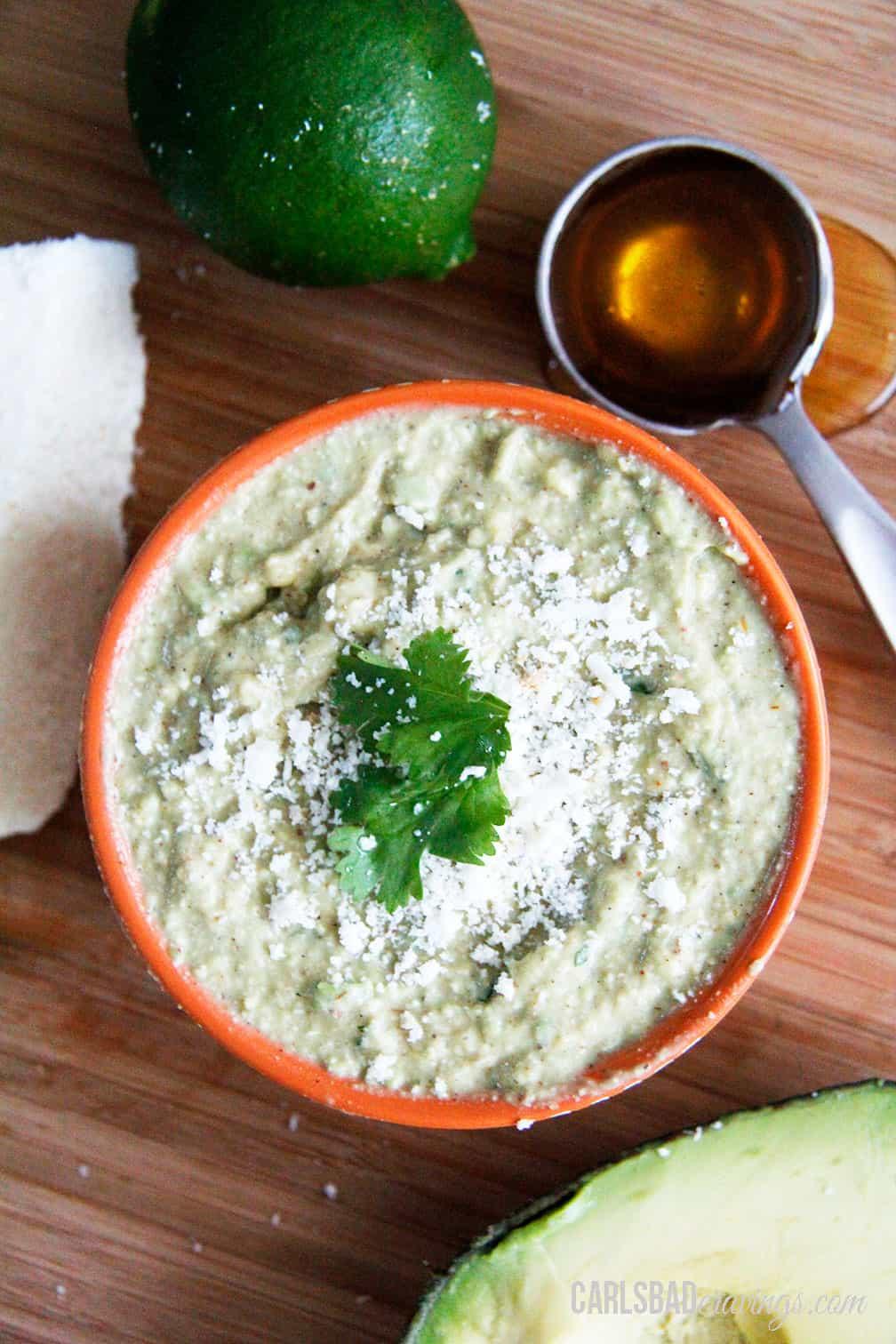 Cotija Honey Lime Avocado Dip/Spread - Carlsbad Cravings