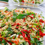Chinese Salad with Crunchy Peanut Ginger Dressing