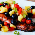 Asian Salmon with Blueberry Pineapple Salsa