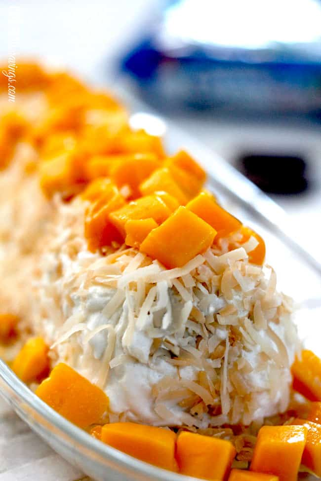 Mango Coconut Oreo Fudge Creme Ice Box Cake
