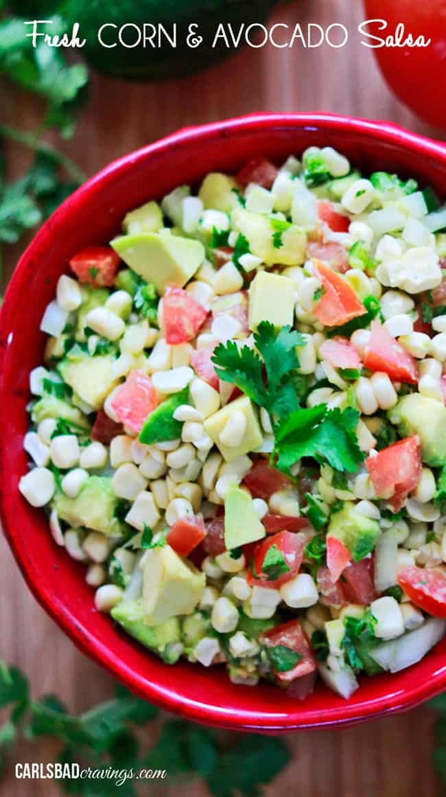 Fresh Corn and Avocado Salsa - Carlsbad Cravings