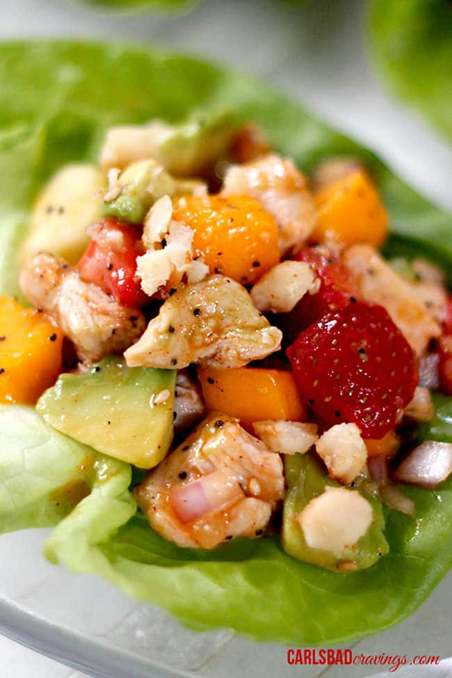 easy chicken fruit salad