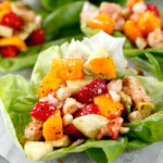 Poppy Seed Chicken Fruit Salad Lettuce Wraps