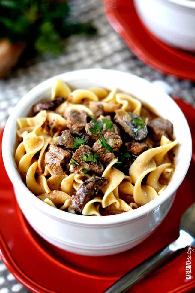 Slow Cooker Beef Stroganoff Soup - Carlsbad Cravings