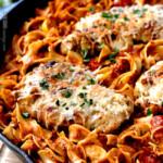 Creamy-Sundried-Tomato-Pesto-Pasta-with-Parmesan-Chicken-NOODLES