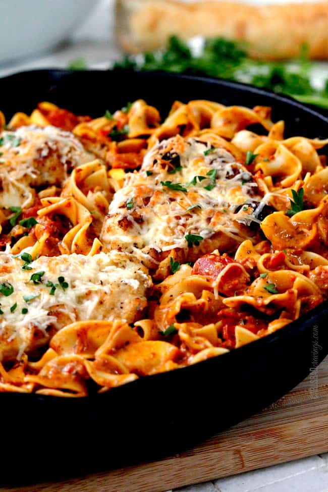 Creamy Sundried Tomato Pesto Pasta (with Parmesan Chicken Option ...