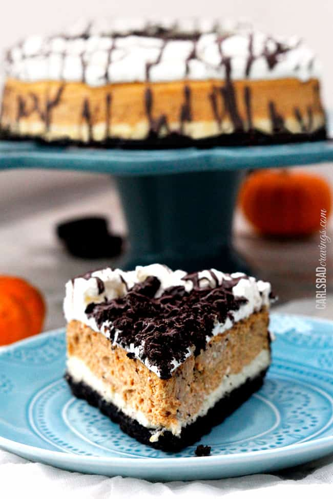 Glorious Double Layer Pumpkin Oreo Cheesecake. Another reason to be ...