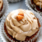 Pumpkin Cupcakes with Butterscotch Frosting