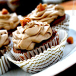 Pumpkin Spice Cupcakes with Butterscotch Frosting