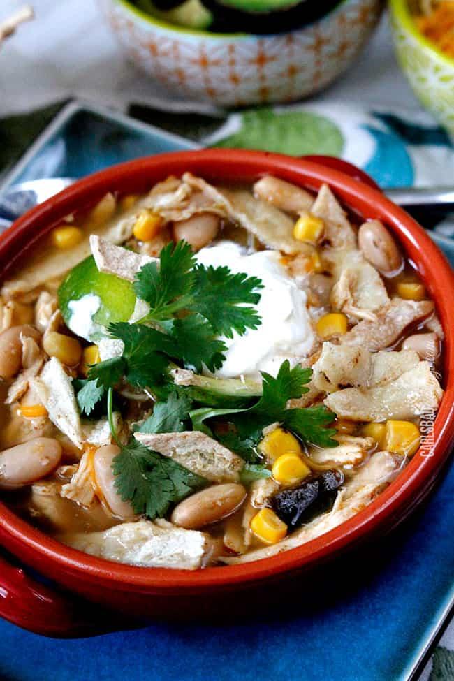 Salsa Verde Chicken Tortilla Soup (Slow Cooker)