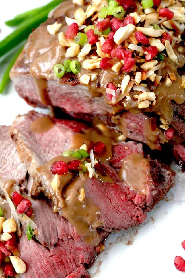 Asian Pomegranate Coconut Lamb