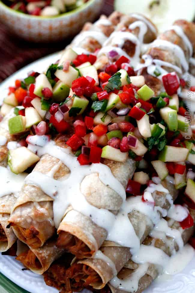Creamy-BBQ-Raspberry-Chipotle-Chicken-Taquitos1