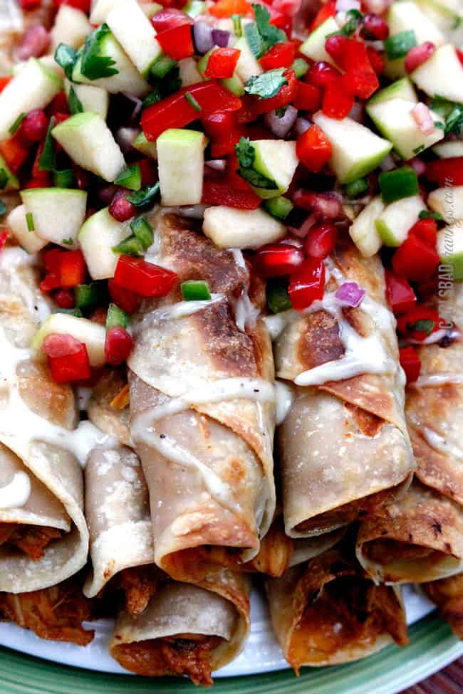 Creamy-BBQ-Raspberry-Chipotle-Chicken-Taquitos2