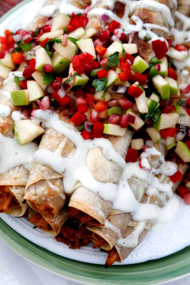 Creamy-BBQ-Raspberry-Chipotle-Chicken-Taquitos7