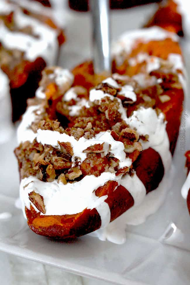 Twice Baked Sweet Potatoes with Bacon Pecan Streusel and ...