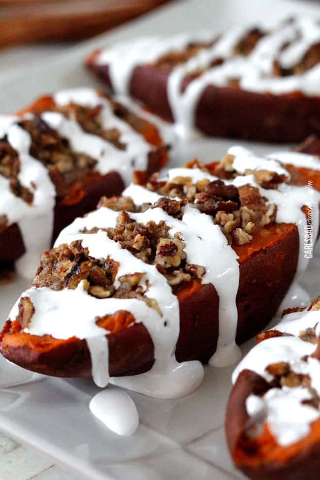 sweet potato and twice baked sweet potatoes with pecan bacon streusel ...