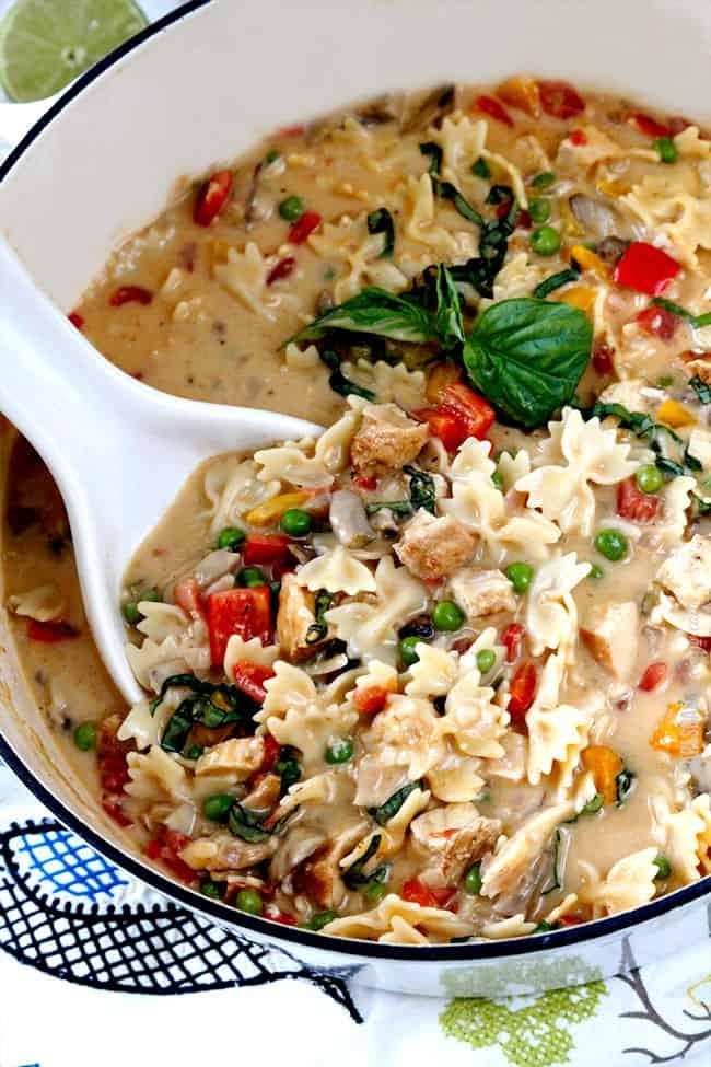 Recipe for creamy chicken pasta soup