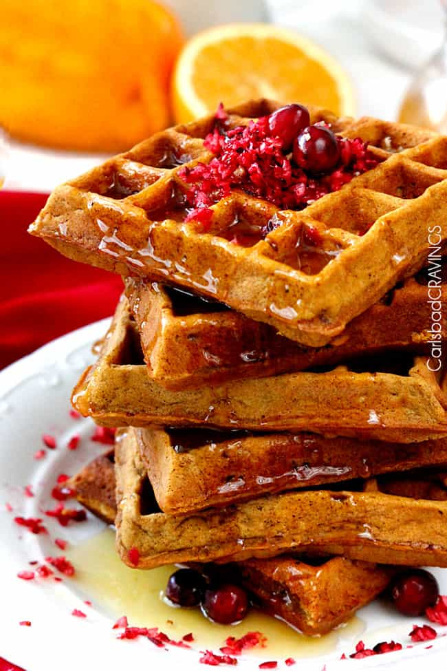 side view of  best  Gingerbread Waffles recipe