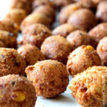 Bacon Pepper Jack Hushpuppies with Sweet Chili Dijon Dip