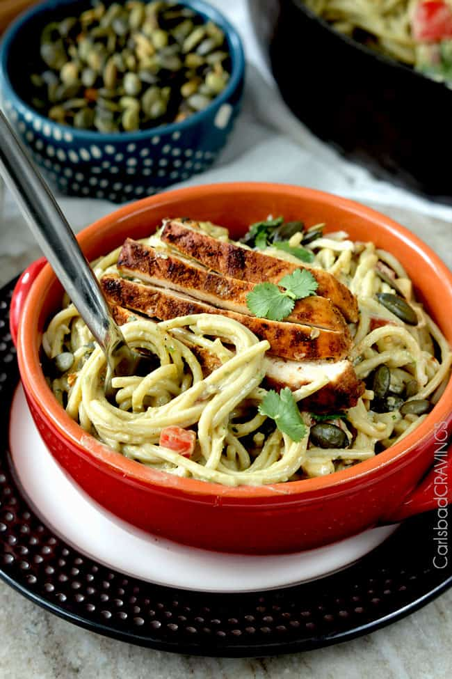Avocado Pasta | Carlsbad Cravings
