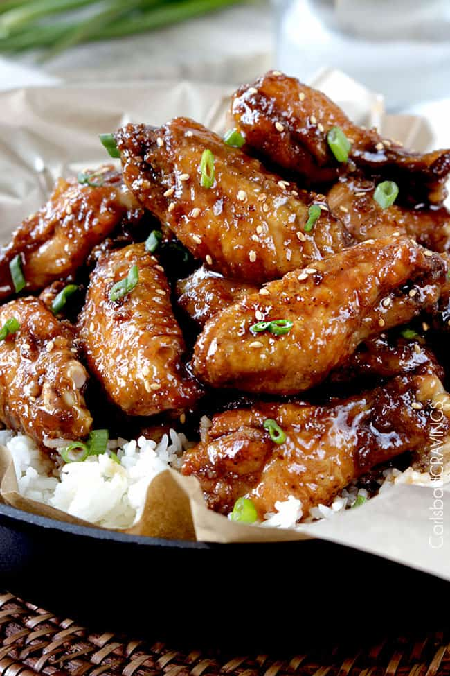 Baked General Tso's Sticky Wings