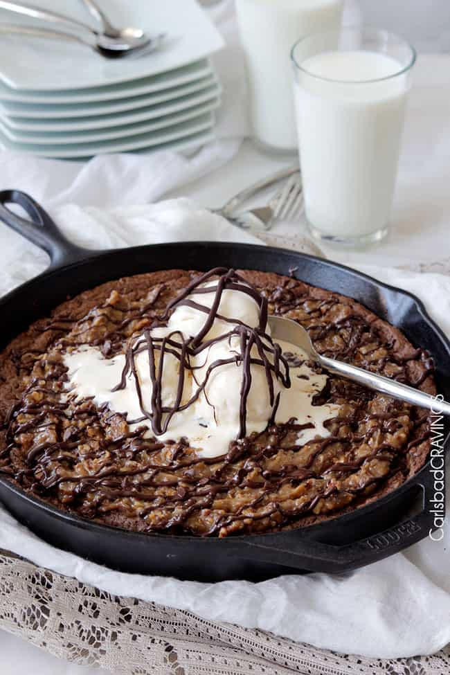 German-Chocolate-Cake-Cookie-Skillet10