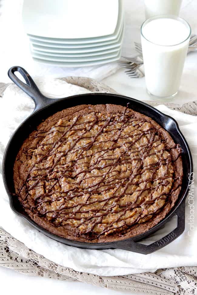 German-Chocolate-Cake-Cookie-Skillet5